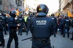 Sécurité dans des rues de Barcelone pendant le Conseil des ministres photo stock