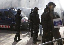 Sécurité dans des rues de Barcelone pendant le Conseil des ministres images libres de droits