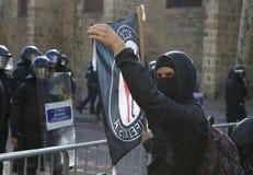 Sécurité dans des rues de Barcelone pendant le Conseil des ministres photo libre de droits