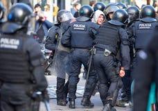 Sécurité dans des rues de Barcelone pendant le Conseil des ministres image libre de droits