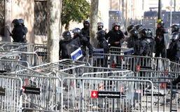 Sécurité dans des rues de Barcelone pendant le Conseil des ministres photos libres de droits
