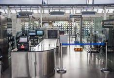 Sécurité dans les aéroports Haikou Photos stock