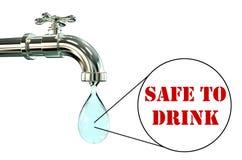 Sécurité de concept d'eau potable  illustration stock