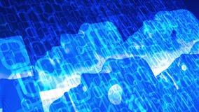 Sécurité de Cyber et concept d'intelligence artificielle, données de chargement d'ordinateur illustration stock