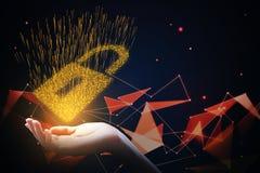 Sécurité de Cyber et concept d'intimité Photographie stock libre de droits