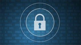 Sécurité de Cyber et protection de l'information ou de réseau Les futurs services de Web de technologie pour les affaires et l'In illustration stock