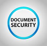 Sécurité de document autour de bouton poussoir bleu illustration stock