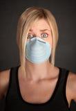 Sécurité de masque chirurgical image stock