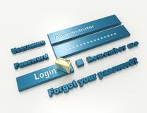 Sécurité de mot de passe Photos stock