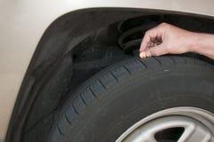 Sécurité de pneu Photographie stock libre de droits