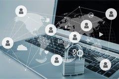 Sécurité de réseau illustration stock