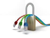 Sécurité de réseau Photo libre de droits