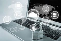 Sécurité de réseau photos stock