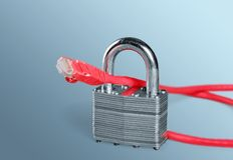 Sécurité de réseau image libre de droits
