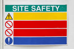 Sécurité de site photographie stock libre de droits