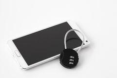 Sécurité de Smartphone photographie stock libre de droits