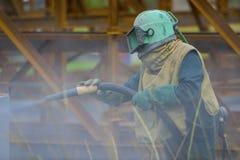 Sécurité de tir de sable Photo stock