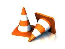 sécurité des cônes 3d Images stock