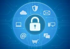 Sécurité en ligne Photographie stock libre de droits