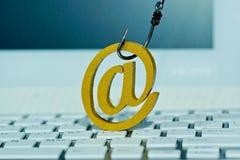 Sécurité et contre-mesures d'email photographie stock