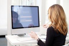 Sécurité et intimité en ligne Image libre de droits