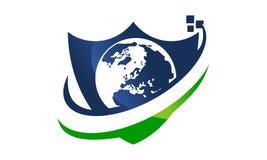 Sécurité globale Logo Design Template Illustration Libre de Droits