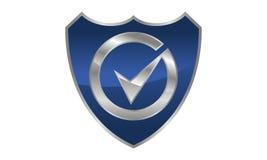 Sécurité globale Logo Design Template Photographie stock libre de droits