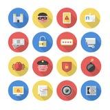 Sécurité – icônes plates Image libre de droits