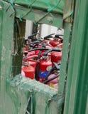 Sécurité incendie de chantier Photographie stock