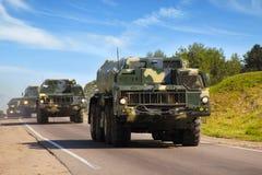 Sécurité nationale. Véhicules militaires Photos libres de droits