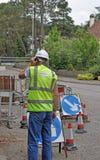 Sécurité par des panneaux routiers photos libres de droits