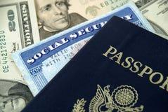 Sécurité sociale et passeport Image libre de droits