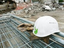 Sécurité sur le chantier de construction photographie stock libre de droits