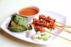 Séjour de poulet avec du riz collant Image stock