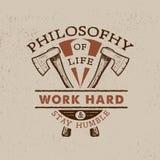 Séjour dur de travail humble