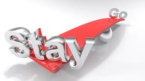 Séjour rouge d'équilibre - disparaissent le concept - illustration du rendu 3D illustration stock