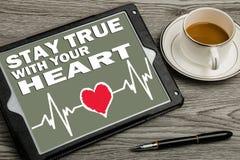 séjour vrai avec votre coeur Image stock