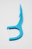 Sélection bleu-clair de fil dentaire avec le fil plat et arc large pour d Images stock