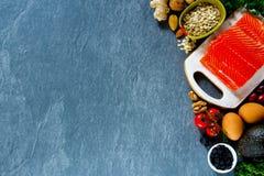 Sélection d'aliment biologique photo libre de droits
