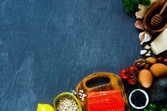 Sélection d'aliment biologique image libre de droits
