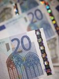 Sélection d'euro notes Images libres de droits