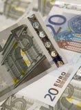 Sélection d'euro notes Photographie stock libre de droits