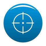 Sélection de bleu d'icône de cible illustration libre de droits
