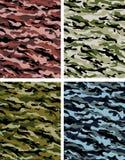 Sélection de camouflage Images libres de droits