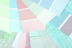 Sélection de conception de couleur en pastel Photographie stock libre de droits