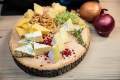 Sélection de fromages Photographie stock libre de droits
