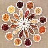 Sélection de fruit et d'écrou Image stock