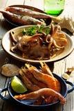 Sélection de fruits de mer Image stock
