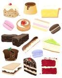 Sélection de gâteau illustration de vecteur