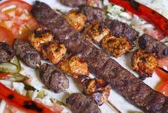 Sélection de kebab turc traditionnel images stock